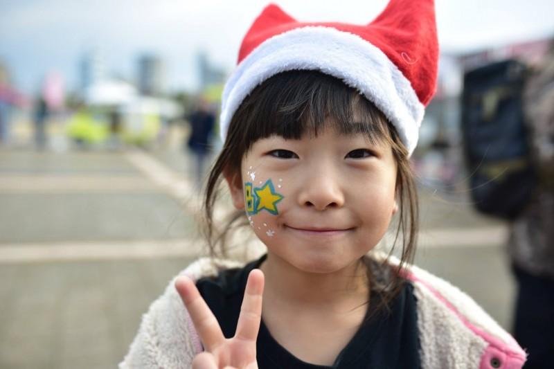 広島フェイスペイント組合-クリスマスHAPPYリレーラン2016-002