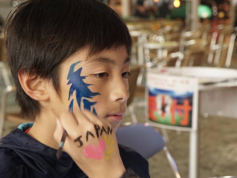 広島フェイスペイント組合-カジル岩国W杯予選-017