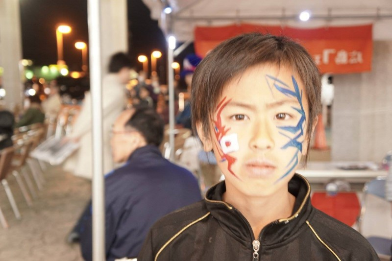 広島フェイスペイント組合-カジル岩国W杯予選-025