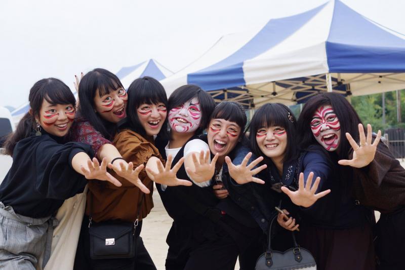 広島フェイスペイント組合-筆まつり-2017-001