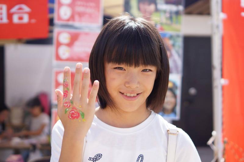 広島フェイスペイント組合-筆まつり-2017-011