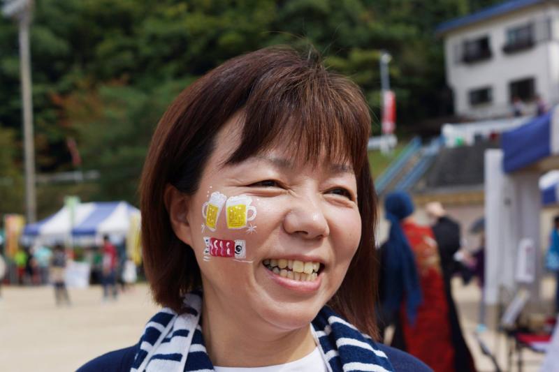 広島フェイスペイント組合-筆まつり-2017-016