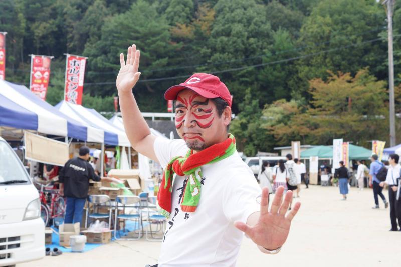 広島フェイスペイント組合-筆まつり-2017-020