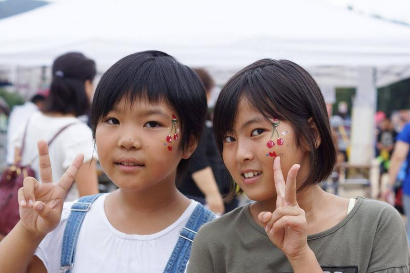 広島フェイスペイント組合-筆まつり-2017-025