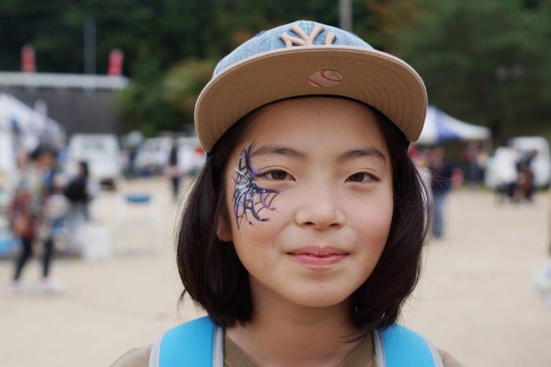 広島フェイスペイント組合-筆まつり-2017-036