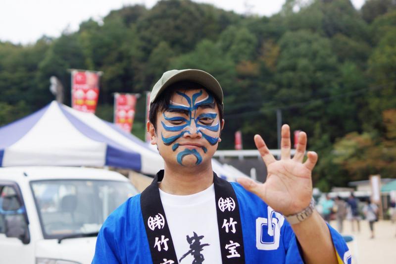 広島フェイスペイント組合-筆まつり-2017-037