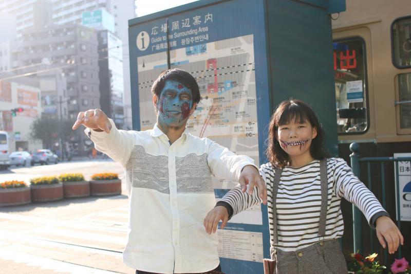 広島フェイスペイント組合-横川ゾンビナイト3-1027-0025