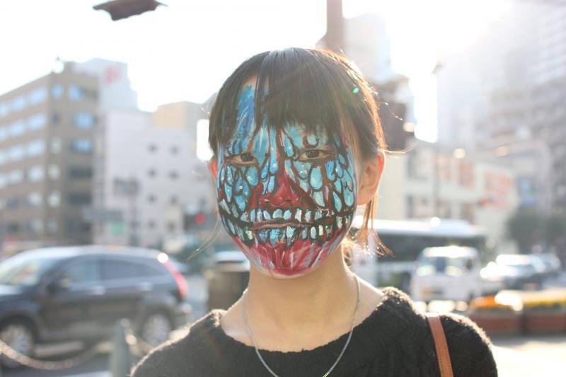 広島フェイスペイント組合-横川ゾンビナイト3-1027-0030