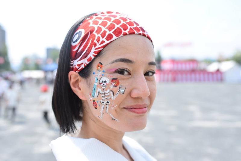 広島フェイスペイント組合-ひろしま盆ダンス-002