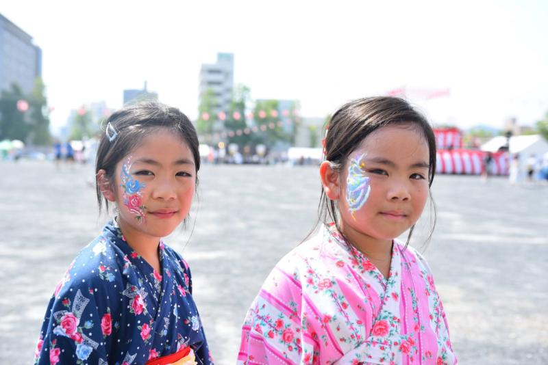 広島フェイスペイント組合-ひろしま盆ダンス-006