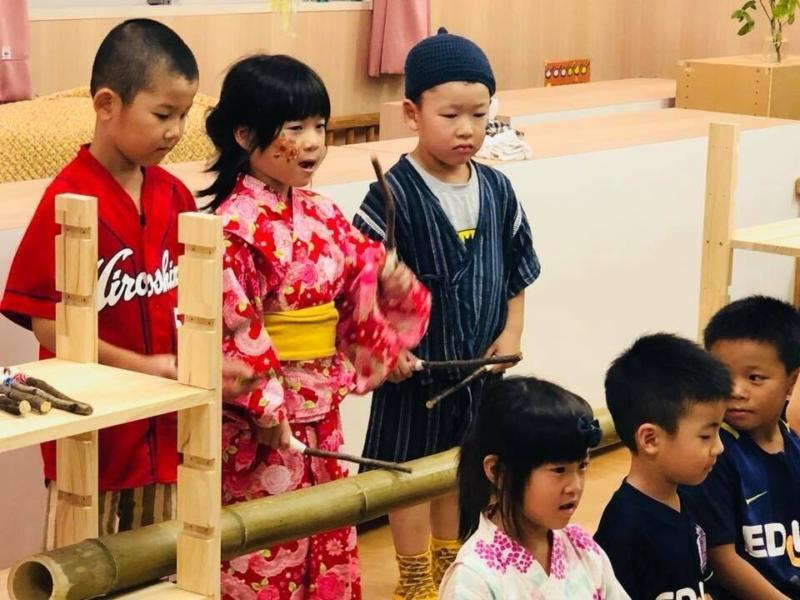 広島フェイスペイント組合-くすの木保育園夕涼み会-02