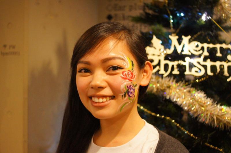 広島フェイスペイント組合-バックパッカーズ宮島クリスマスパーティー-13