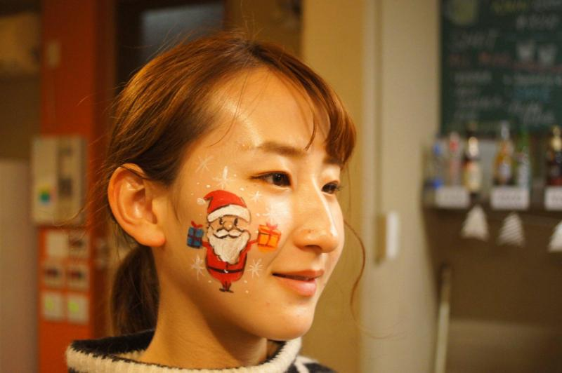 広島フェイスペイント組合-バックパッカーズ宮島クリスマスパーティー-15